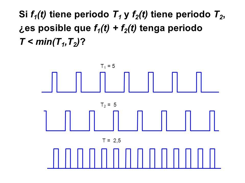 Si f1(t) tiene periodo T1 y f2(t) tiene periodo T2,