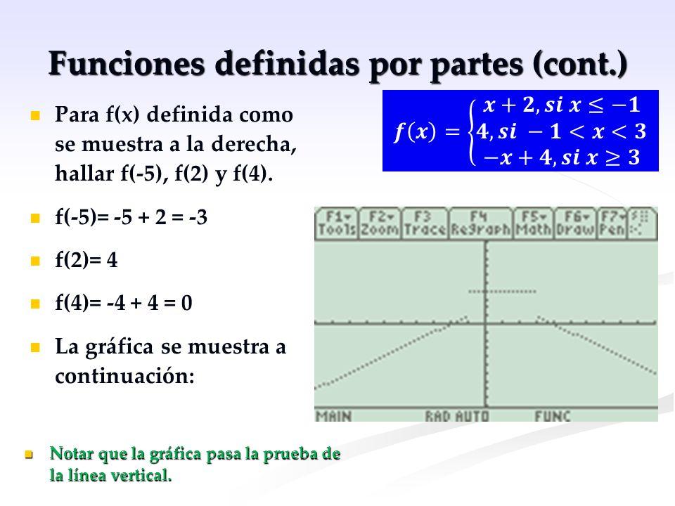 Funciones definidas por partes (cont.)