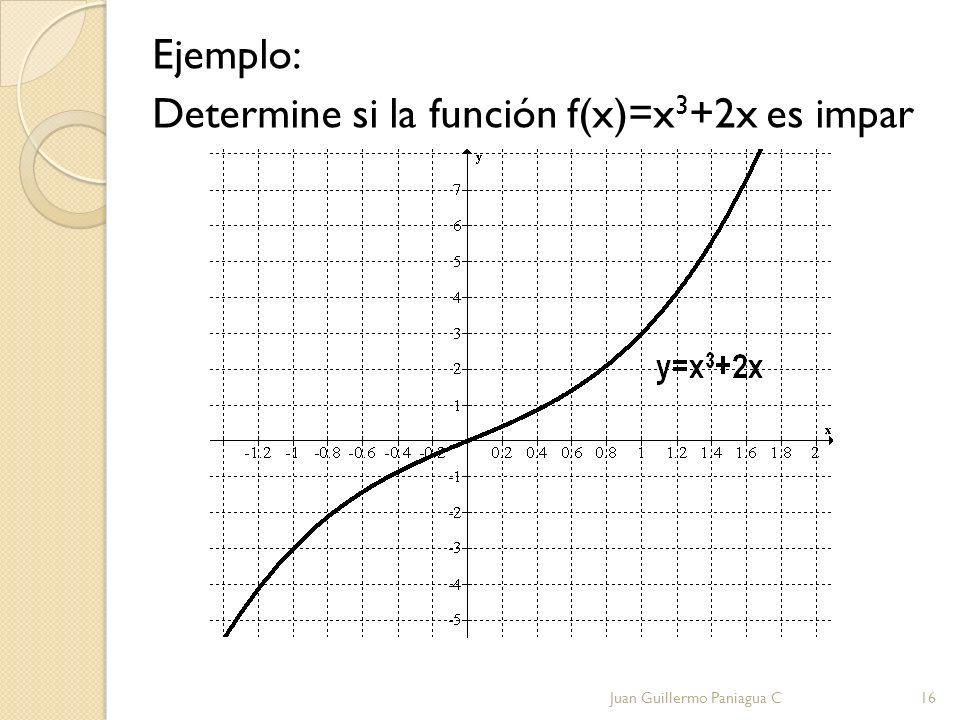 Ejemplo: Determine si la función f(x)=x3+2x es impar