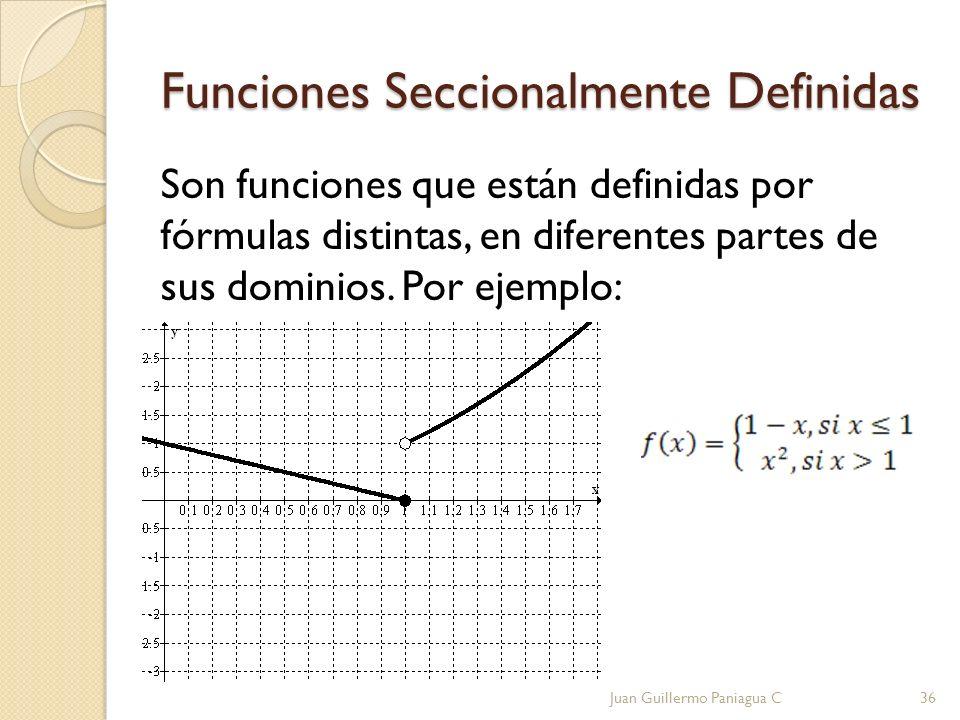 Funciones Seccionalmente Definidas