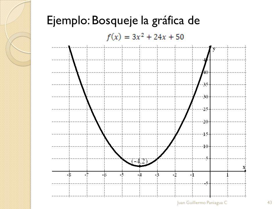Ejemplo: Bosqueje la gráfica de