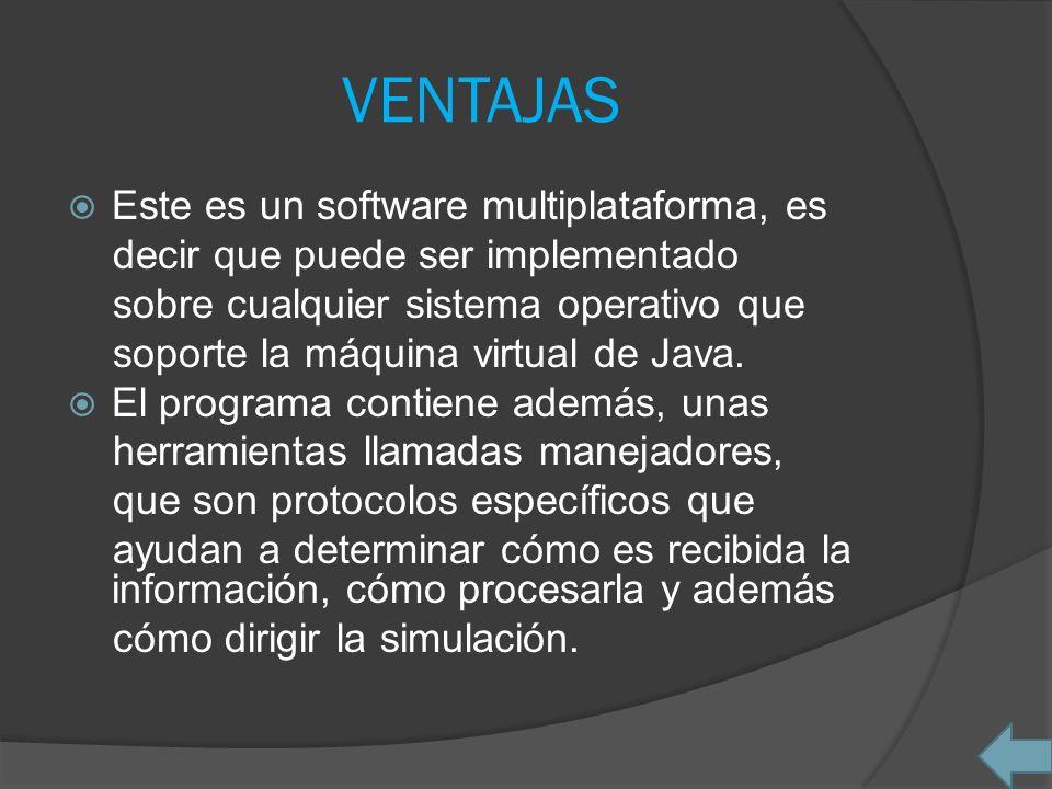 VENTAJAS Este es un software multiplataforma, es