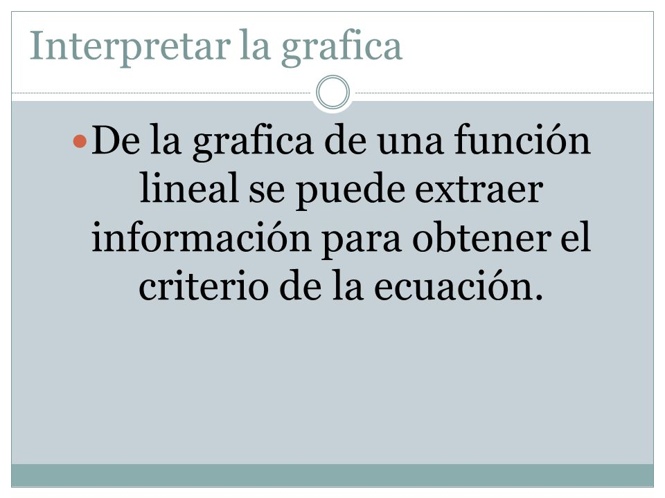Interpretar la grafica