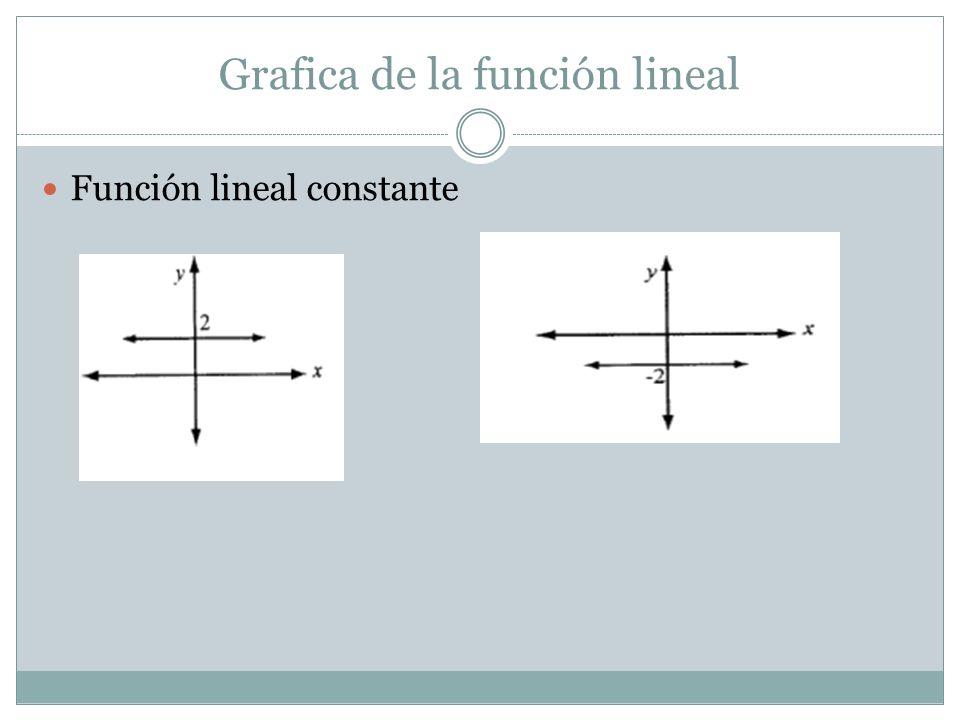 Grafica de la función lineal