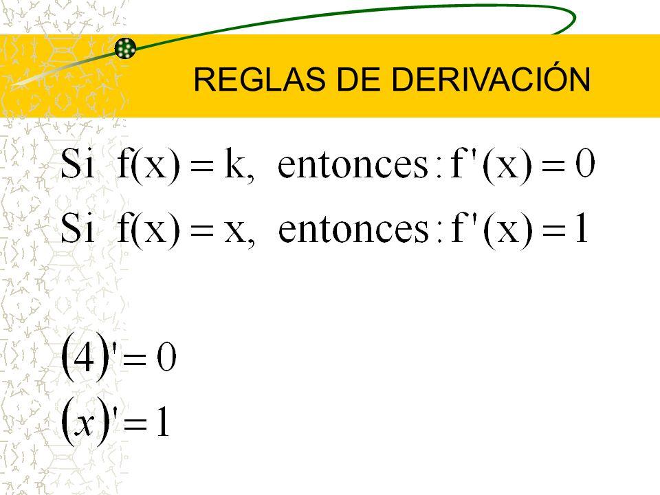 REGLAS DE DERIVACIÓN