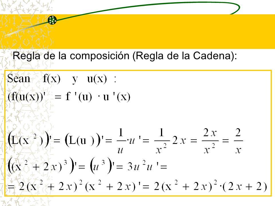 Regla de la composición (Regla de la Cadena):