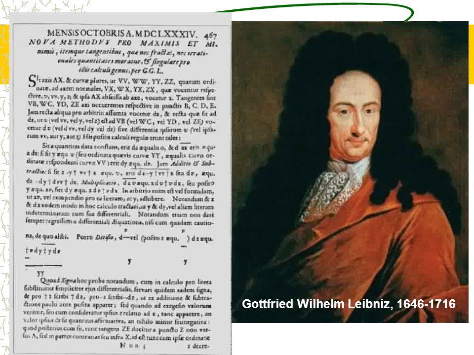 Gottfried Wilhelm Leibniz, 1646-1716
