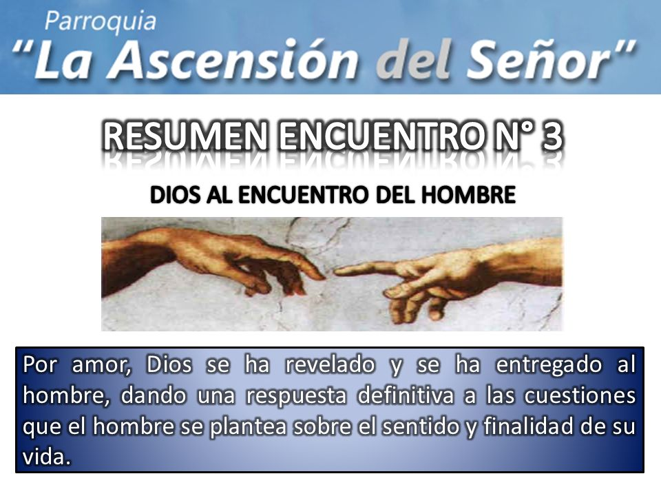 DIOS AL ENCUENTRO DEL HOMBRE