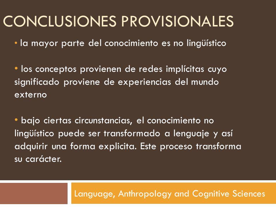 Conclusiones provisionales