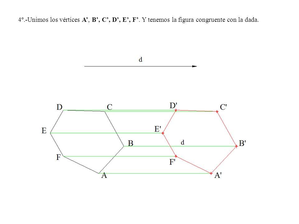 4º. -Unimos los vértices A', B', C', D', E', F'