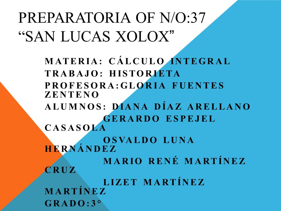 Preparatoria of n/o:37 san Lucas xolox
