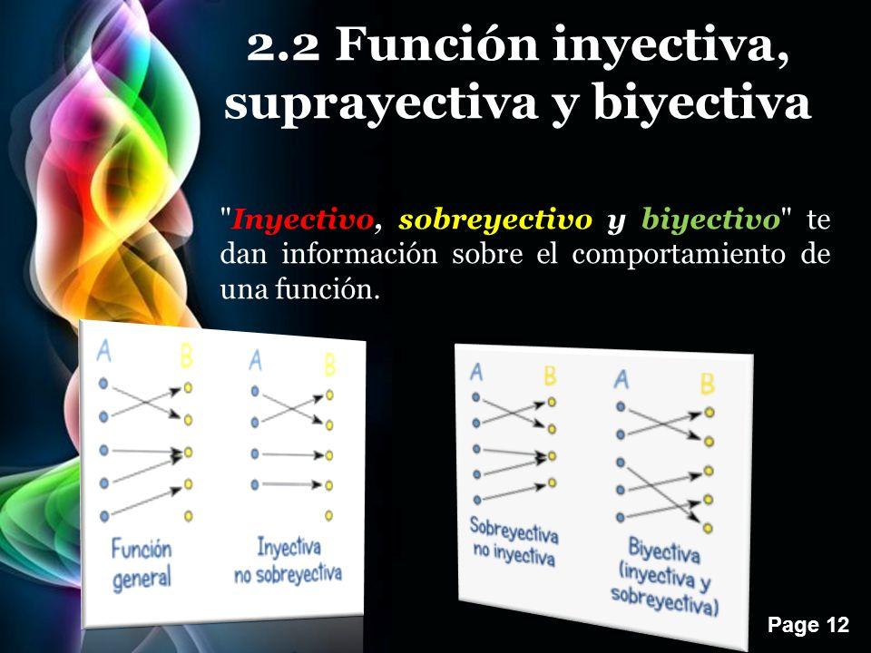 2.2 Función inyectiva, suprayectiva y biyectiva