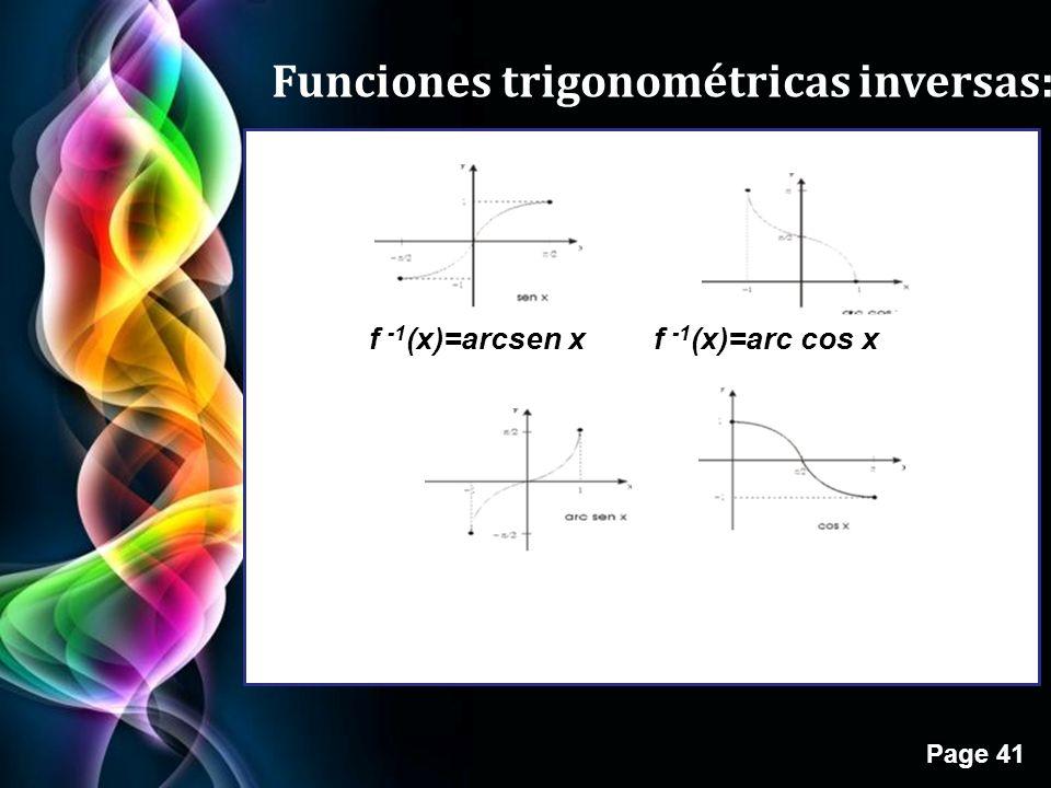 Funciones trigonométricas inversas: