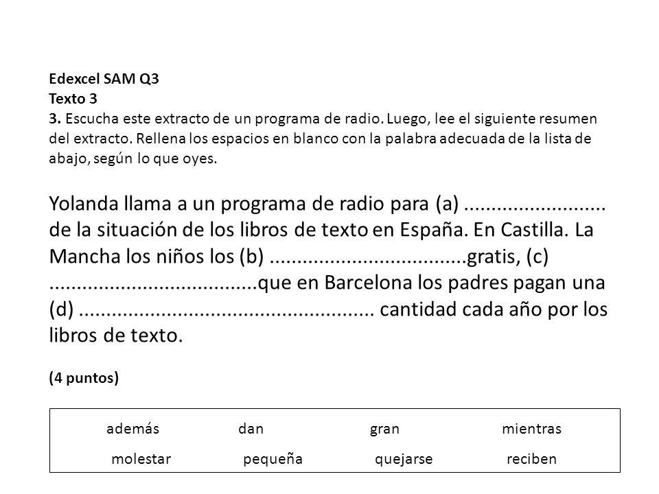 Edexcel SAM Q3 Texto 3.