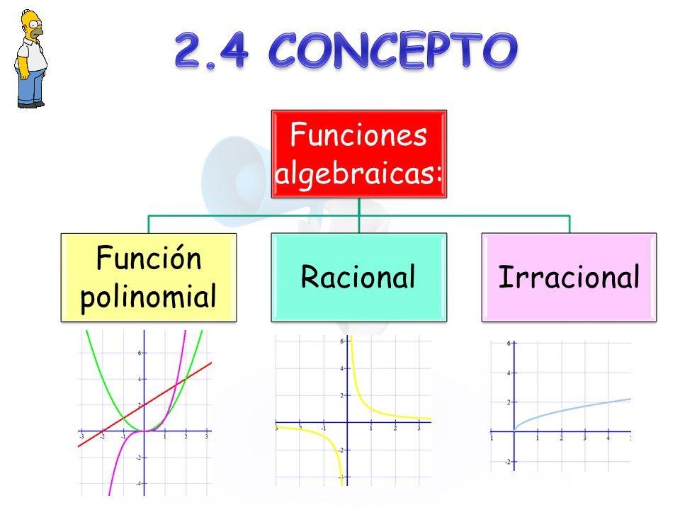 Funciones algebraicas:
