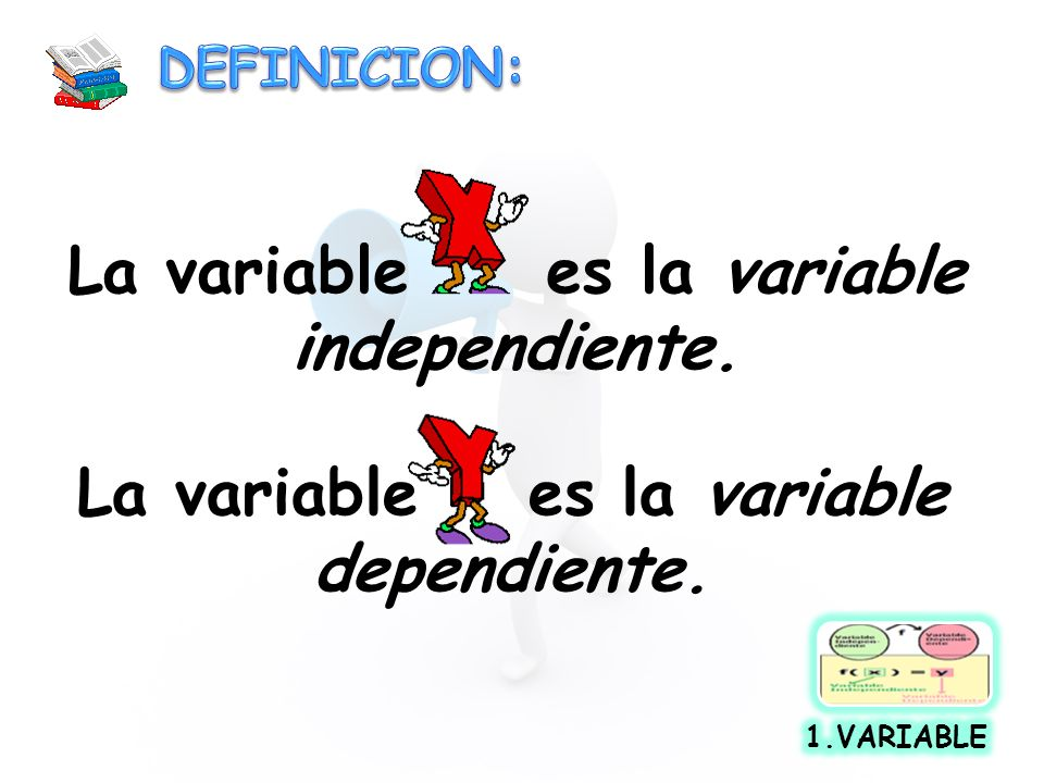 La variable es la variable independiente.
