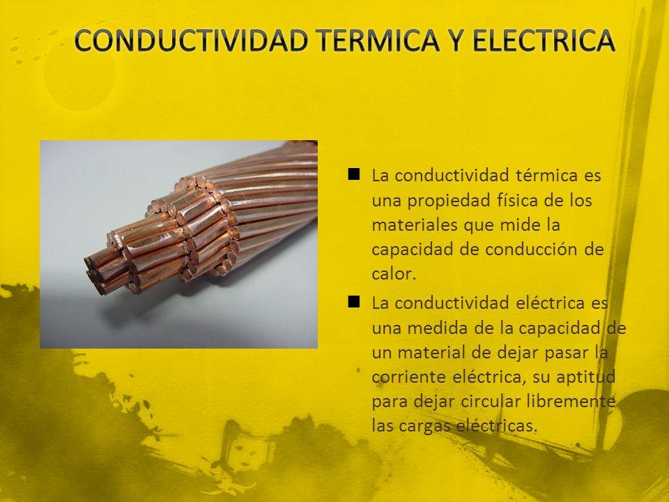 CONDUCTIVIDAD TERMICA Y ELECTRICA