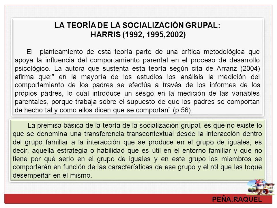 LA TEORÍA DE LA SOCIALIZACIÓN GRUPAL: