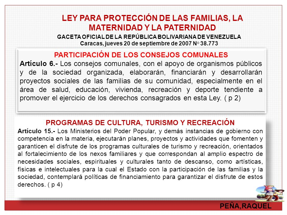 Caracas, jueves 20 de septiembre de 2007 N° 38.773
