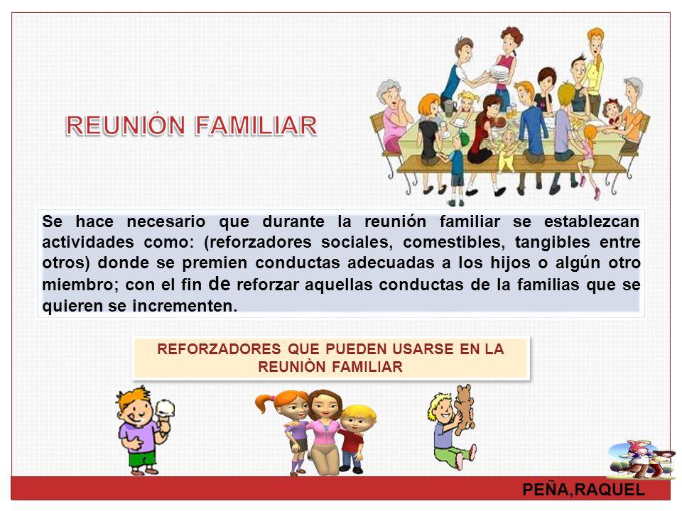 REFORZADORES QUE PUEDEN USARSE EN LA REUNIÒN FAMILIAR
