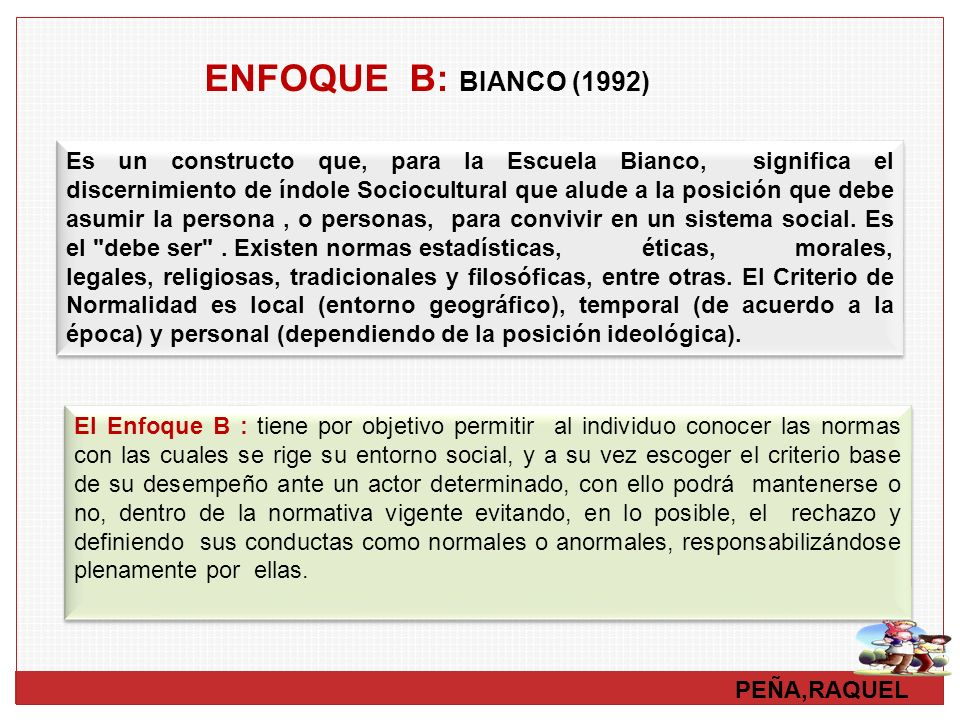 ENFOQUE B: BIANCO (1992)