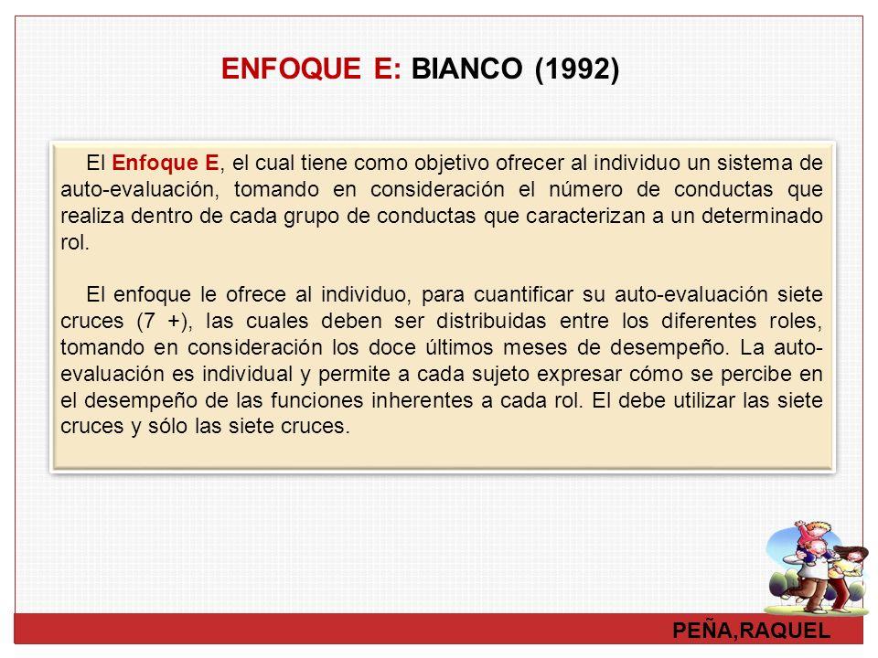 ENFOQUE E: BIANCO (1992)