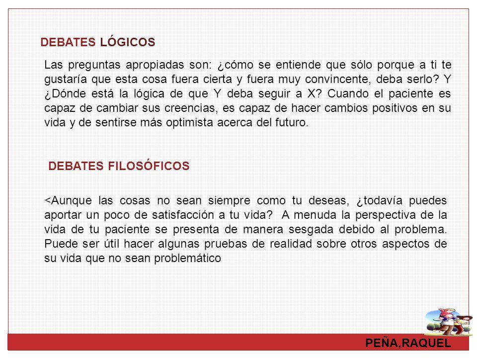 DEBATES LÓGICOS