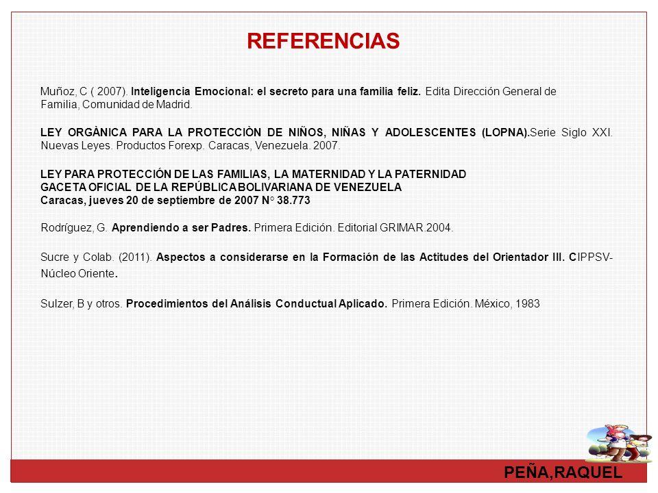 REFERENCIAS PEÑA,RAQUEL