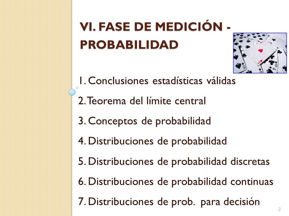 VI. FASE DE MEDICIÓN - PROBABILIDAD