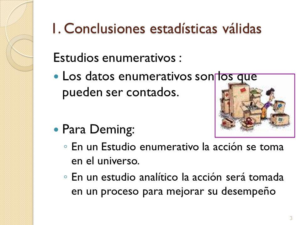 1. Conclusiones estadísticas válidas