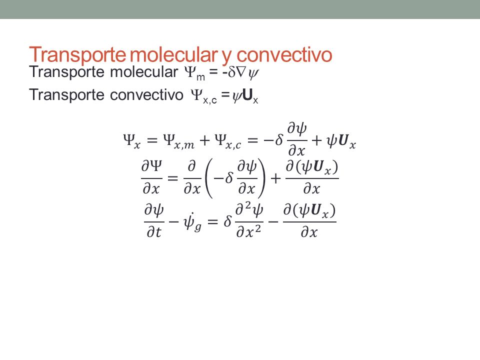 Transporte molecular y convectivo