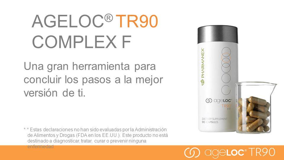 AGELOC® TR90 COMPLEX F Una gran herramienta para concluir los pasos a la mejor versión de ti.
