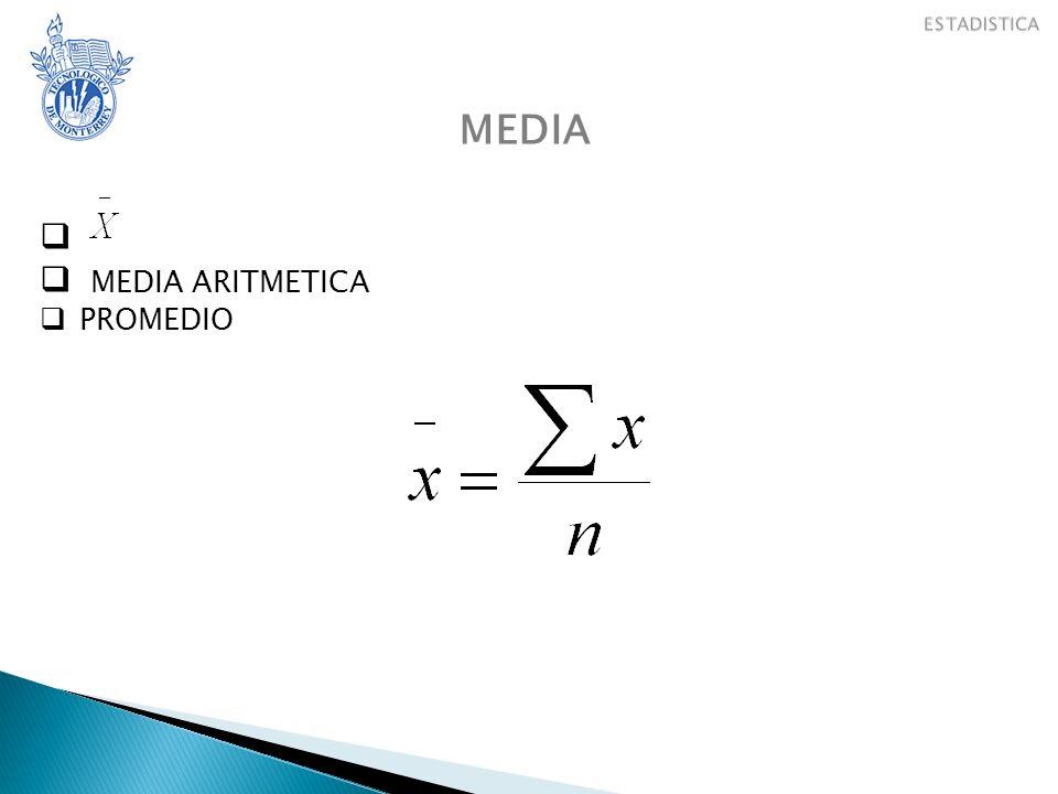ESTADISTICA CONJUNTOS MEDIA MEDIA ARITMETICA PROMEDIO