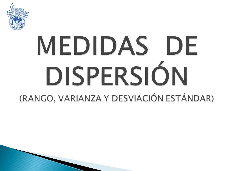 MEDIDAS DE DISPERSIÓN (RANGO, VARIANZA Y DESVIACIÓN ESTÁNDAR)