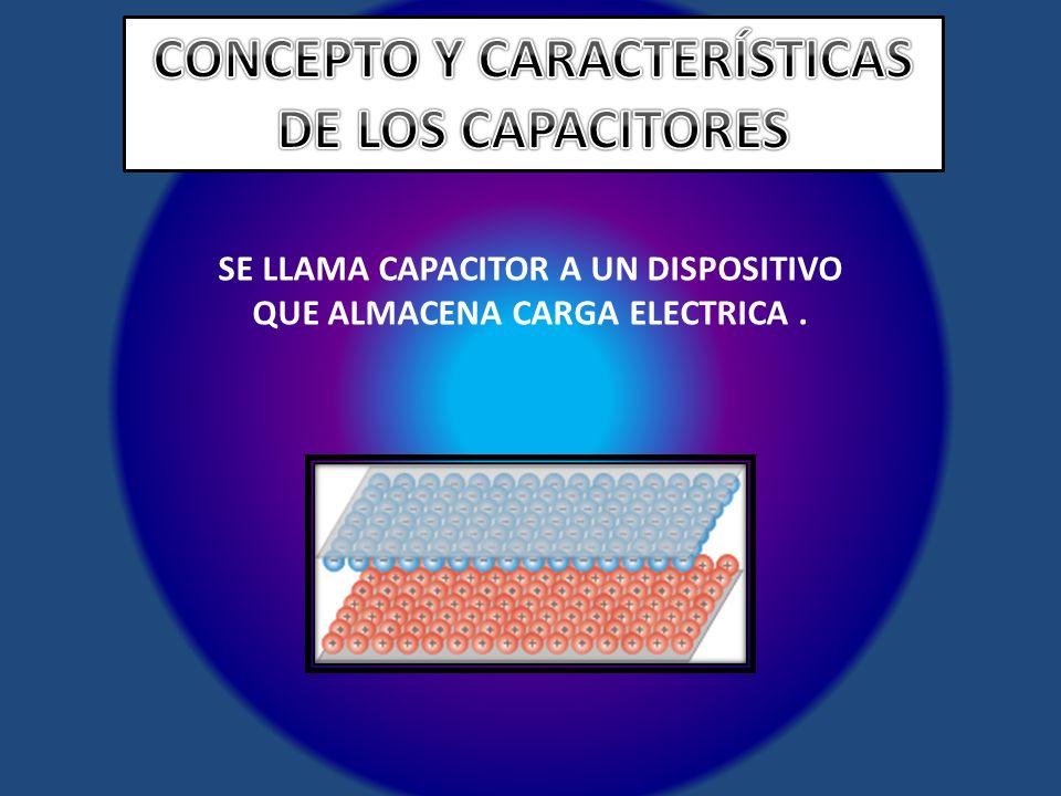 CONCEPTO Y CARACTERÍSTICAS DE LOS CAPACITORES