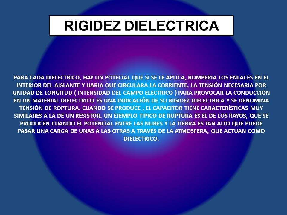 RIGIDEZ DIELECTRICA