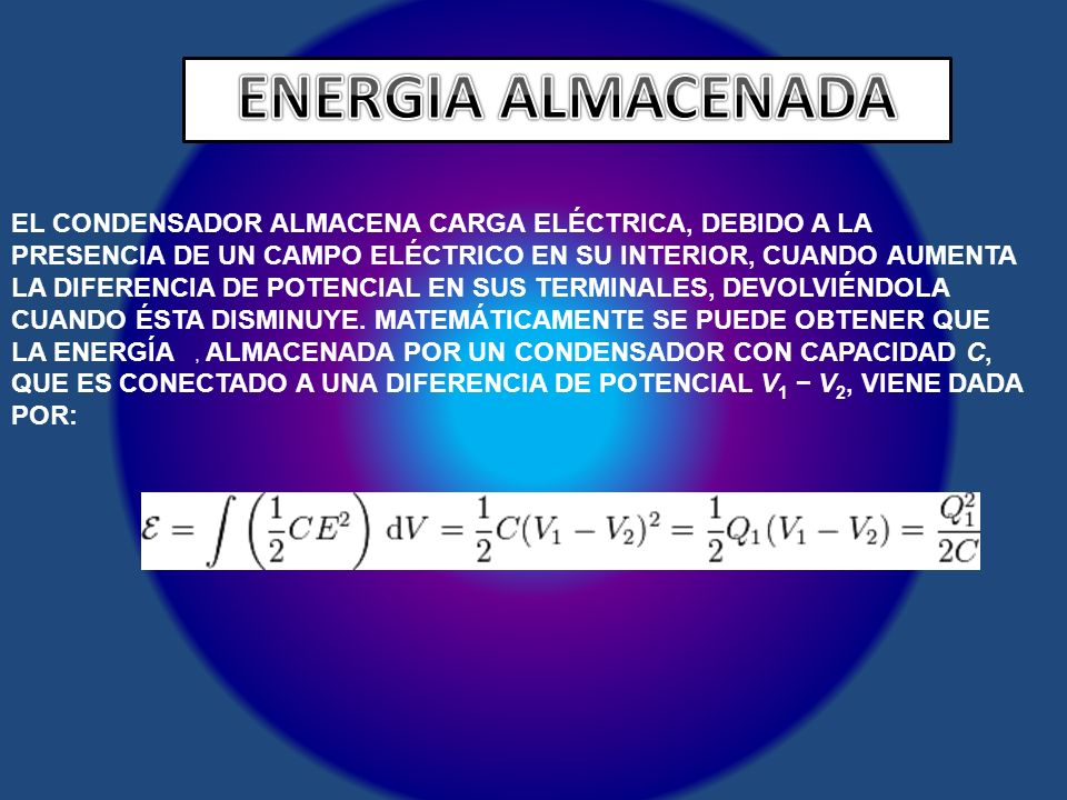 ENERGIA ALMACENADA