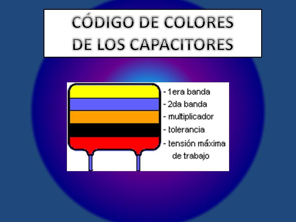 CÓDIGO DE COLORES DE LOS CAPACITORES