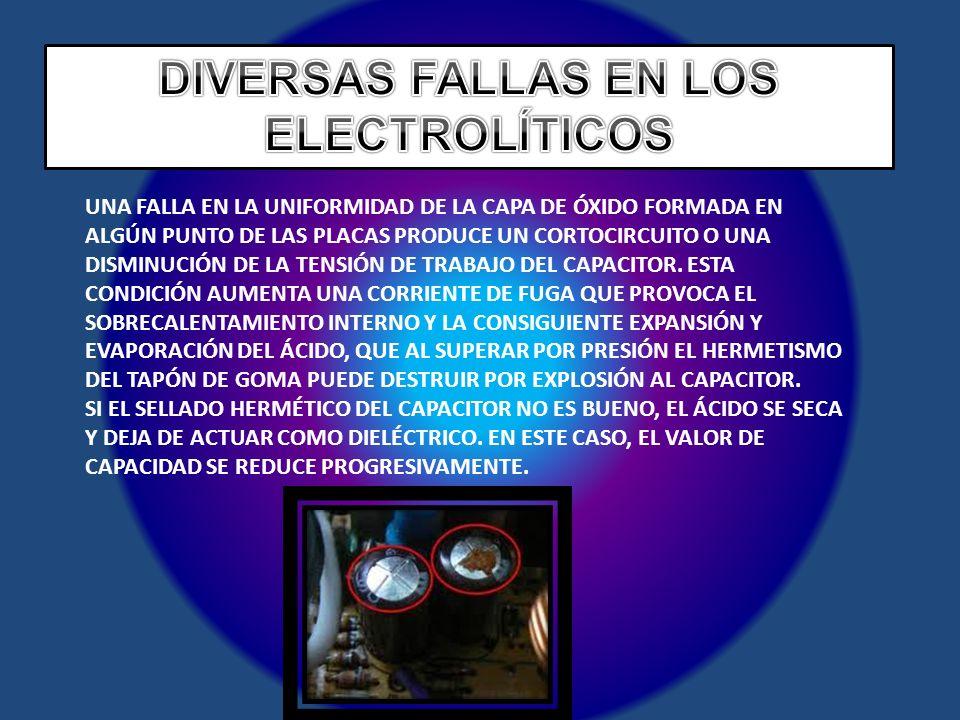 DIVERSAS FALLAS EN LOS ELECTROLÍTICOS