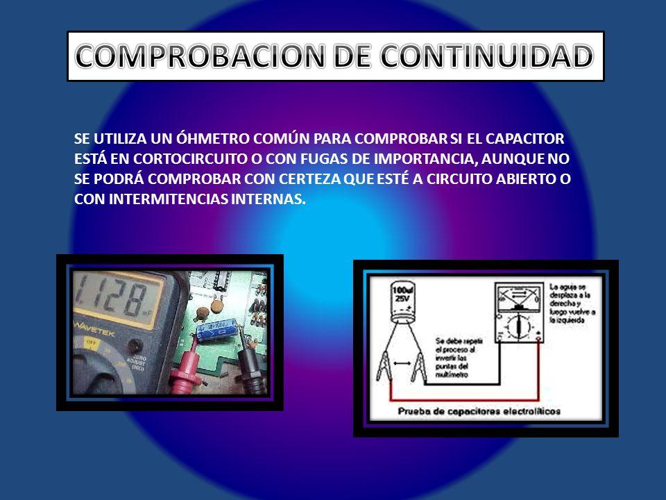 COMPROBACION DE CONTINUIDAD