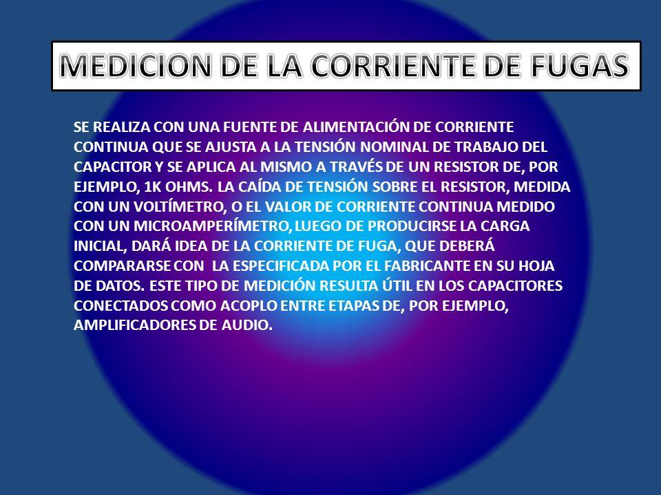 MEDICION DE LA CORRIENTE DE FUGAS
