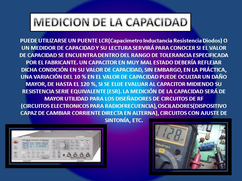 MEDICION DE LA CAPACIDAD