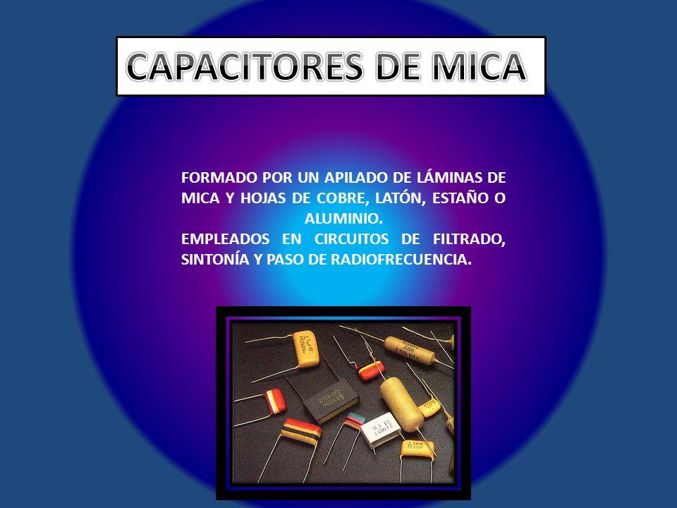 CAPACITORES DE MICA