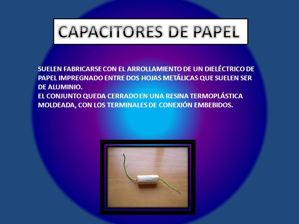 CAPACITORES DE PAPEL