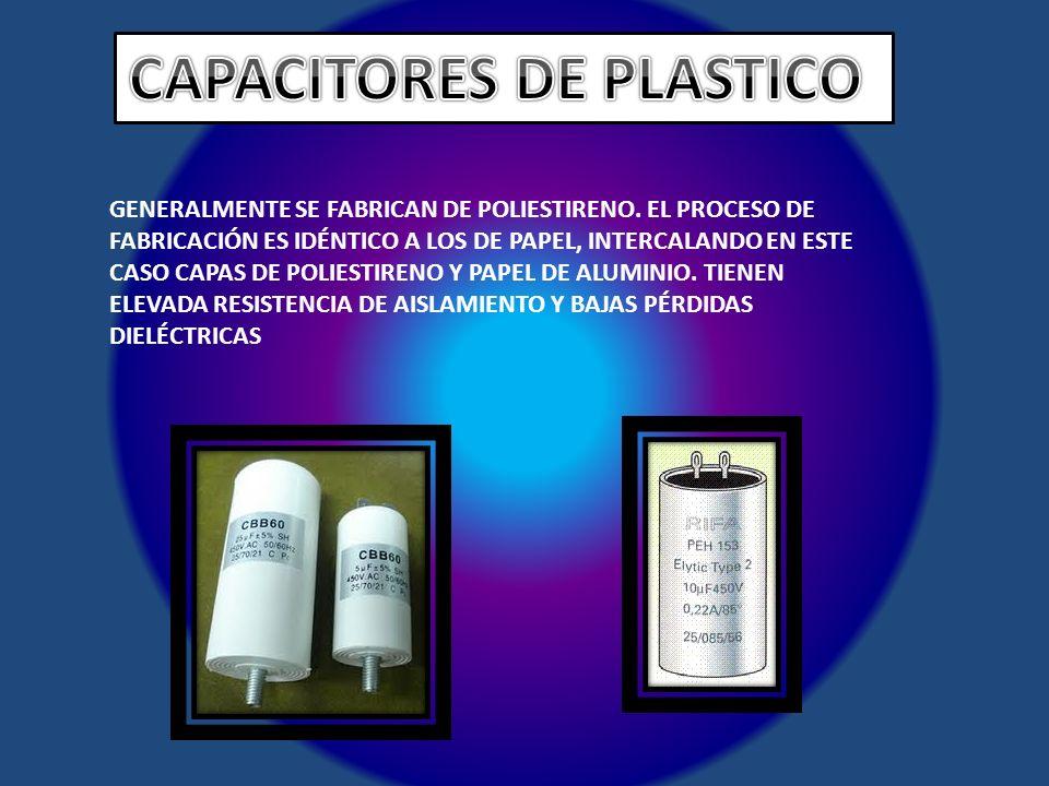CAPACITORES DE PLASTICO