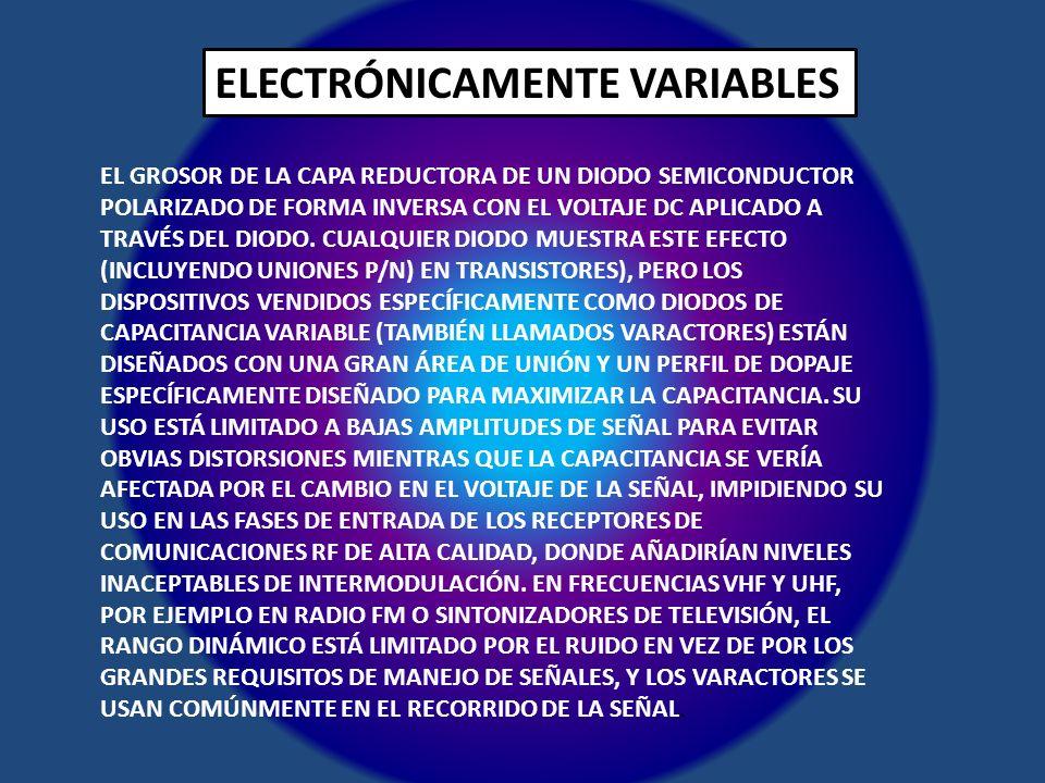 ELECTRÓNICAMENTE VARIABLES