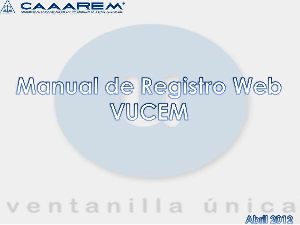 Manual de Registro Web VUCEM