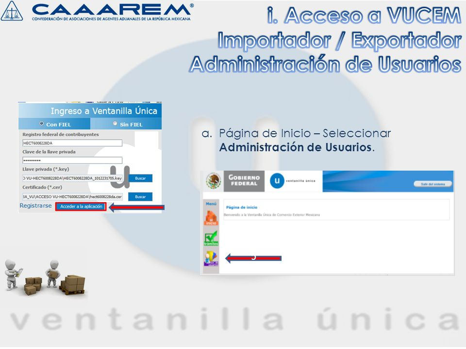 Importador / Exportador Administración de Usuarios