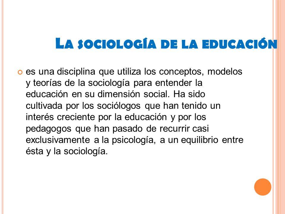 La sociología de la educación