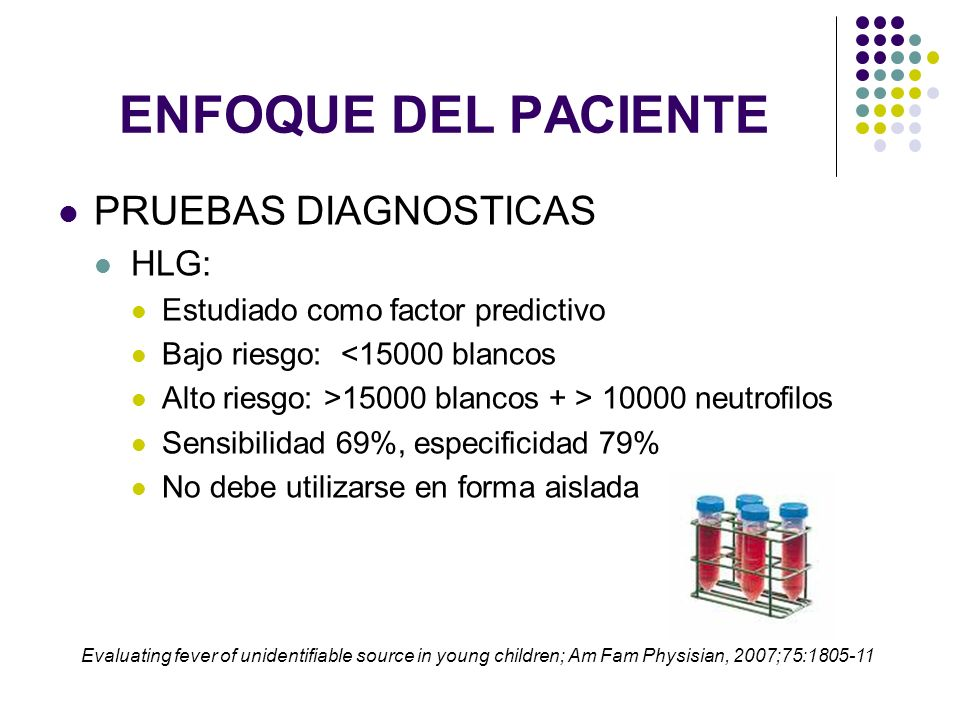 ENFOQUE DEL PACIENTE PRUEBAS DIAGNOSTICAS HLG: